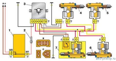 Система блокировки замков дверей ВАЗ 2110-2112