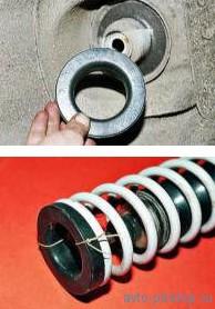 Снятие амортизатора и пружины ВАЗ 2108-2115