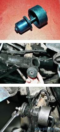Замена сайлент-блоков балки задней подвески ВАЗ 2108-2115