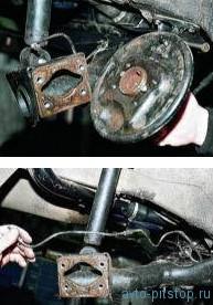 Снятие балки задней подвески ВАЗ 2108-2115