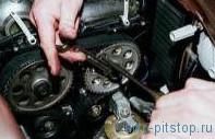 Замена сальников распределительных валов двигателя ВАЗ-2112