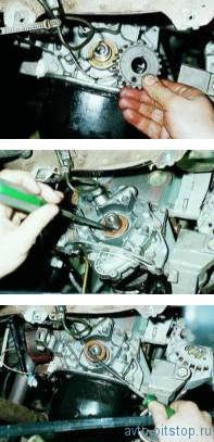Замена переднего сальника коленчатого вала двигателя ВАЗ 2110-2112