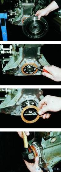 Замена заднего сальника коленчатого вала ВАЗ 2110-2212
