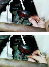 Снятие датчика недостаточного уровня масла в двигателе ВАЗ