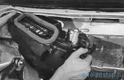 Снятие и установка отопителя ВАЗ-2170