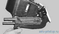 Снятие и установка радиатора отопителя ВАЗ-2170