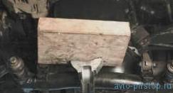 Замена опор подвески силового агрегата Шевроле-Нива