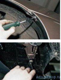 Снятие переднего бампера ВАЗ 2110-2112