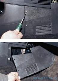 Снятие панели приборов и воздуховодов отопителя ВАЗ 2110-2112