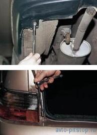 Снятие заднего бампера ВАЗ 2110-2112
