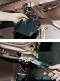 Снятие стекла двери и механизма стеклоподъемника ВАЗ 2110-2112