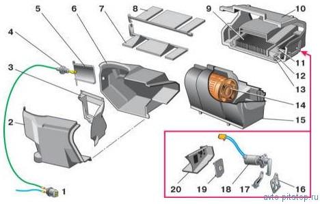 Система отопления и вентиляции ВАЗ 2110-2112