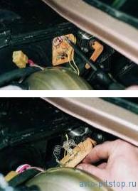 Снятие резистора электродвигателя отопителя ВАЗ 2110-2112