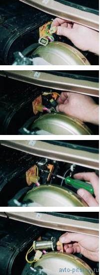 Снятие микромотора привода заслонки отопителя ВАЗ 2110-2112