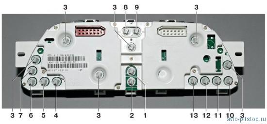 Снятие и разборка комбинации приборов с жидкокристаллическим дисплеем ВАЗ 2110-2112