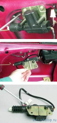 Снятие электропривода замка багажника ВАЗ 2110-2112