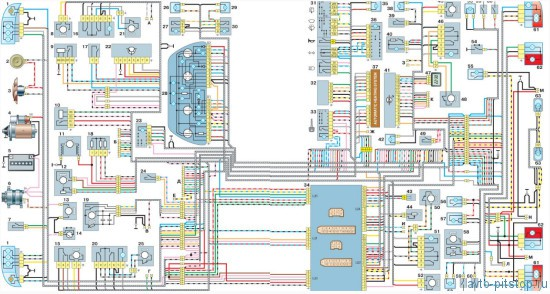 Схема электрооборудования ВАЗ-2110