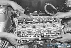Замена прокладки головки блока цилиндров в двигателе ВАЗ 21124, 21126