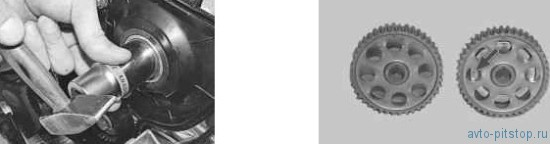Замена сальников распределительных валов в двигателе ВАЗ 21124, 21126
