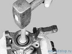 Замена подшипника ступицы передней подвески ВАЗ